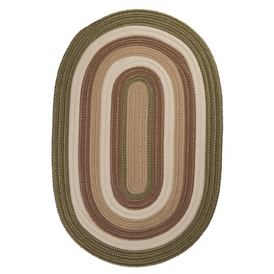 Brooklyn Moss Braided Indoor/Outdoor Area Rug Rug Size: Round 4
