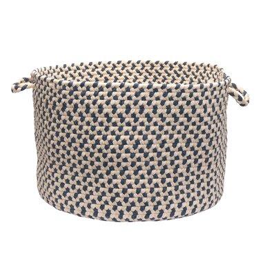 Woven Pindot Laundry Basket Size: 14
