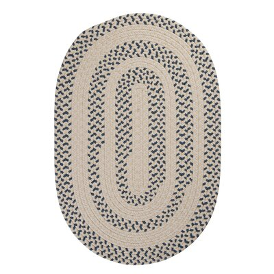 Elmwood Denim Braided Area Rug Rug Size: Round 6