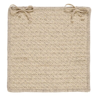 Natural Wool Houndstooth Dining Chair Cushion Color: Cream