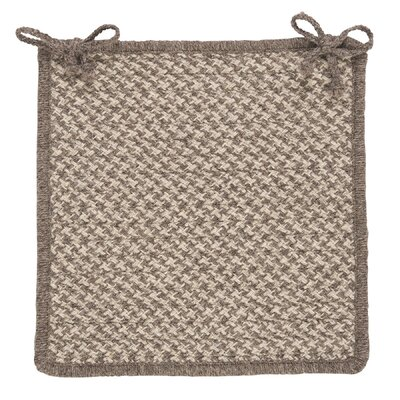 Natural Wool Houndstooth Dining Chair Cushion Color: Latte