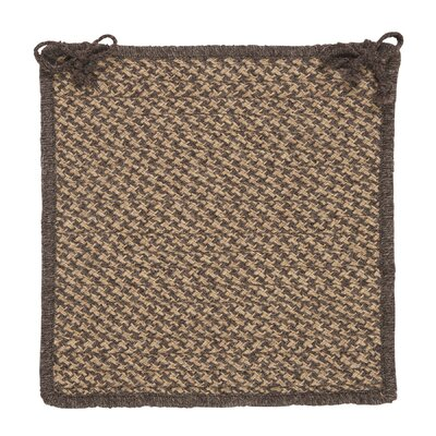 Natural Wool Houndstooth Dining Chair Cushion Color: Caramel
