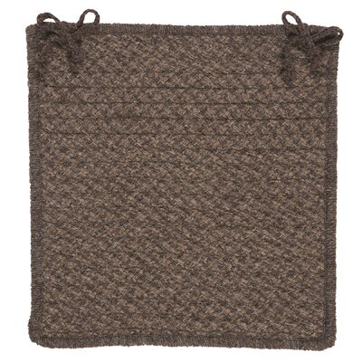 Natural Wool Houndstooth Dining Chair Cushion Color: Cocoa