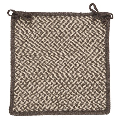 Natural Wool Houndstooth Dining Chair Cushion Color: Espresso