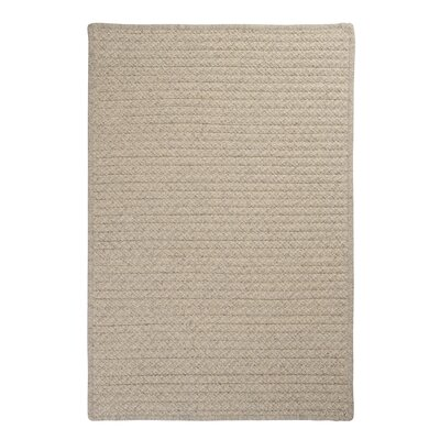Natural Wool Houndstooth Braided Cream Area Rug Rug Size: Square 12