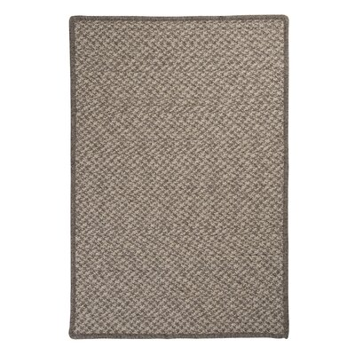 Natural Wool Houndstooth Braided Latte Area Rug Rug Size: Square 12