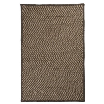 Natural Wool Houndstooth Braided Caramel Area Rug Rug Size: Square 6