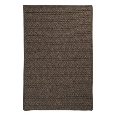 Natural Wool Houndstooth Cocoa Braided Chocolate Area Rug Rug Size: Square 6