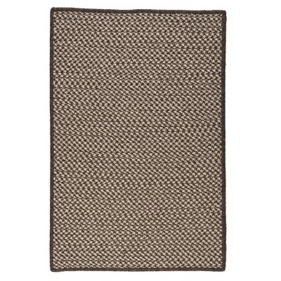 Natural Wool Houndstooth Braided Espresso Area Rug Rug Size: Square 6