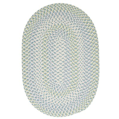 Carousel Sky High Blue/Green Area Rug Rug Size: Round 6