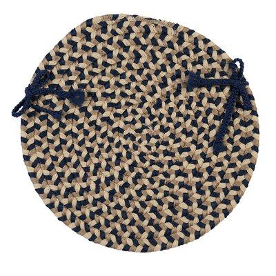 Burmingham Dining Chair Cushion Color: Blue Crest
