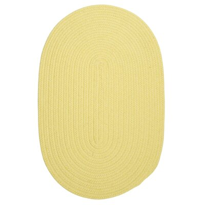Bristol Yellow Outdoor Area Rug Rug Size: Oval 10' x 13'