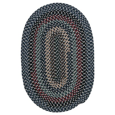 Lettie Winter Blues Area Rug Rug Size: Oval 10 x 13