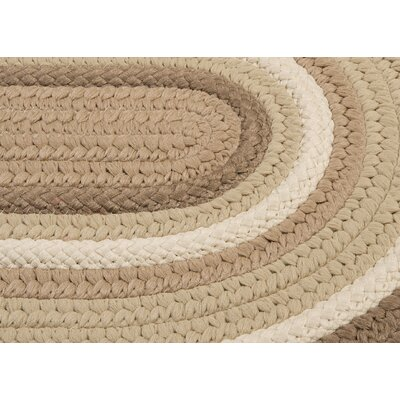 Brooklyn Hand Braided Natural Indoor/Outdoor Area Rug Rug Size: Oval 2 x 4