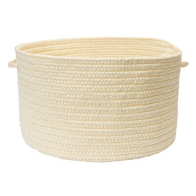 Boca Raton Utility Basket Color: Cream, Size: 18