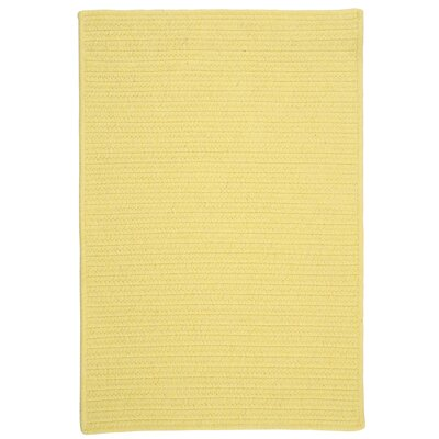 Courtyard Yellow Rug Rug Size: Square 10