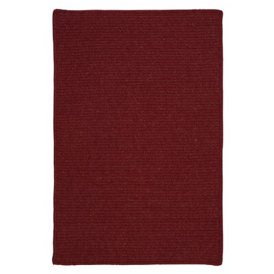 Courtyard Sangria Rug Fringe: Not Included, Rug Size: 3' x 5'