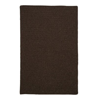 Courtyard Cocoa Rug Fringe: Not Included, Rug Size: 2 x 4