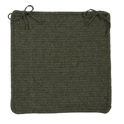 Courtyard Dining Chair Cushion Color: Olive