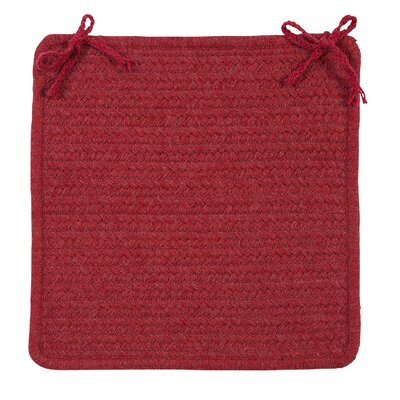 Courtyard Dining Chair Cushion Color: Red