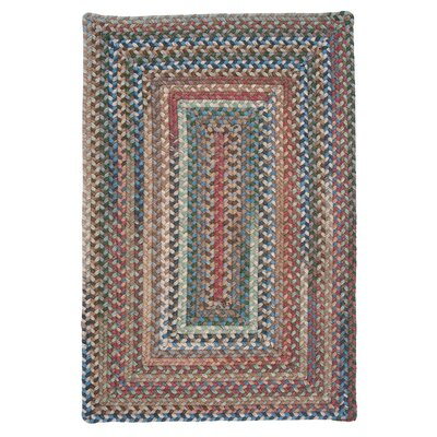 Gloucester Dusk Braided Red Area Rug Rug Size: 2 x 3