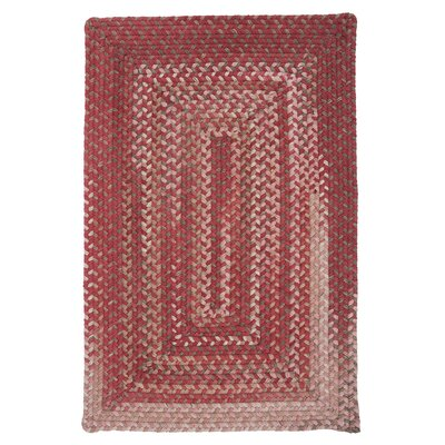 Gloucester Rhubarb Braided Red Area Rug Rug Size: Rectangle 4 x 6