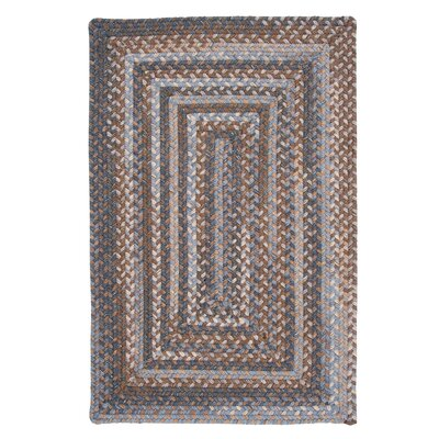 Gloucester Graphite Braided Brown/Tan Area Rug Rug Size: Square 12