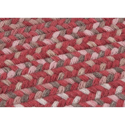 Oak Harbour Rhubarb Red Area Rug Rug Size: Round 12