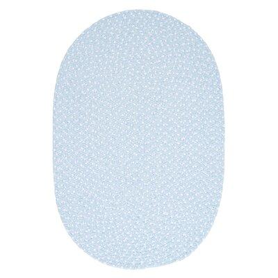 Confetti Sky Blue Area Rug Rug Size: Oval 12 x 15