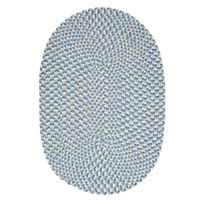 Boice Blue Area Rug Rug Size: Round 6