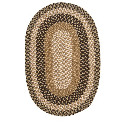 Fabric Multi Brown Area Rug Rug Size: Oval 11 x 14