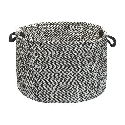 Outdoor Houndstooth Tweed Utility Basket Size: 14