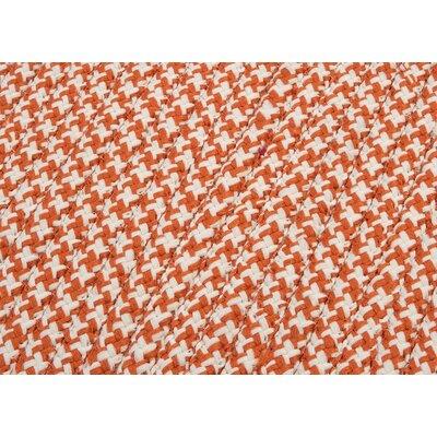 Outdoor Houndstooth Tweed Rug Size: Orange Sample Swatch