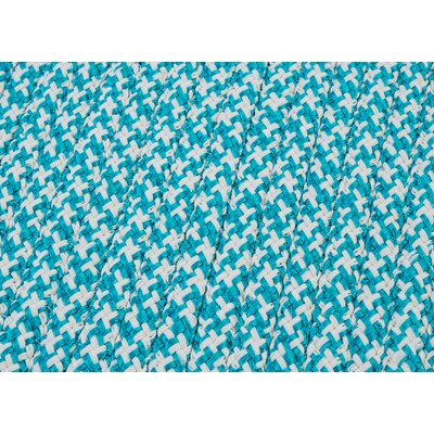 Outdoor Houndstooth Tweed Area Rug Rug Size: Turquoise Sample Swatch