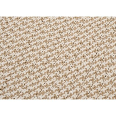 Outdoor Houndstooth Tweed Area Rug Rug Size: Cuban Sand Sample Swatch