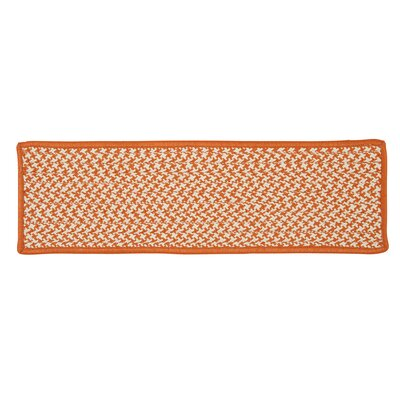 Outdoor Houndstooth Tweed Orange Stair Treads Quantity: Set of 13