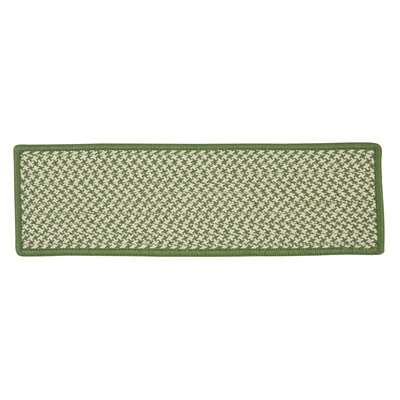 Outdoor Houndstooth Tweed Leaf Green Stair Treads Quantity: 1