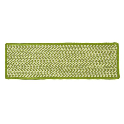 Outdoor Houndstooth Tweed Lime Stair Treads Quantity: 1