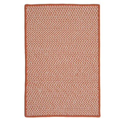 Outdoor Houndstooth Tweed Orange Rug Rug Size: Square 6