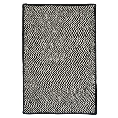Outdoor Houndstooth Tweed Black Rug Rug Size: 4 x 6