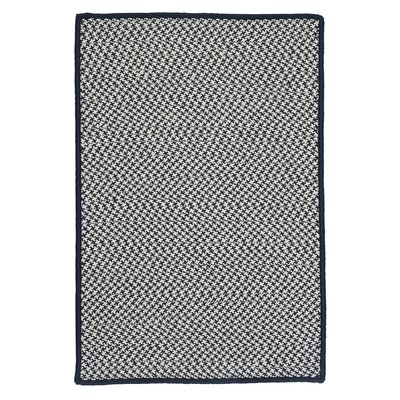 Outdoor Houndstooth Tweed Navy Rug Rug Size: 5 x 8