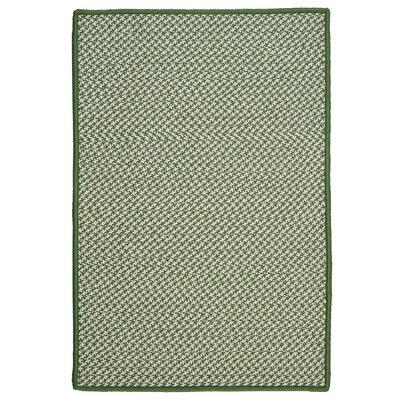 Outdoor Houndstooth Tweed Leaf Green Rug Rug Size: Rectangle 12 x 15