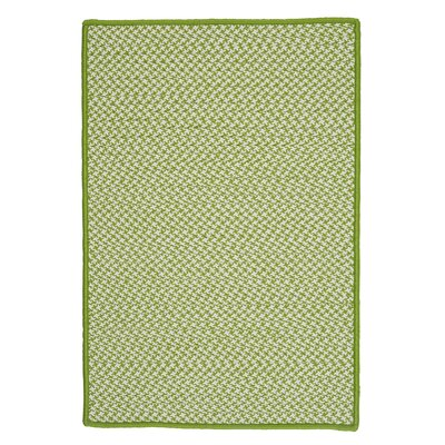 Outdoor Houndstooth Tweed Lime Area Rug Rug Size: Rectangle 10 x 13