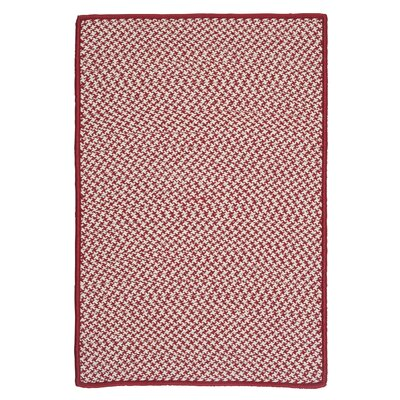 Outdoor Houndstooth Tweed Sangria Area Rug Rug Size: 10 x 13