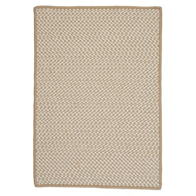 Outdoor Houndstooth Tweed Cuban Sand Rug Rug Size: Rectangle 4 x 6