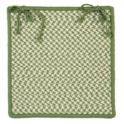 Outdoor Houndstooth Tweed Chair Pad (Set of 4) Color: Leaf Green