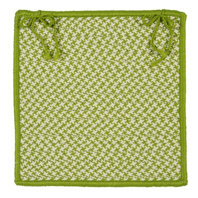 Outdoor Houndstooth Tweed Chair Pad (Set of 4) Color: Lime