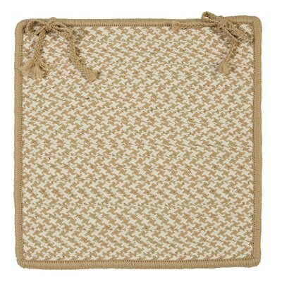 Outdoor Houndstooth Tweed Chair Pad (Set of 4) Color: Cuban Sand