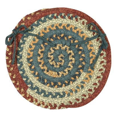 Market Mix Oval Dining Chair Cushion Color: Multi