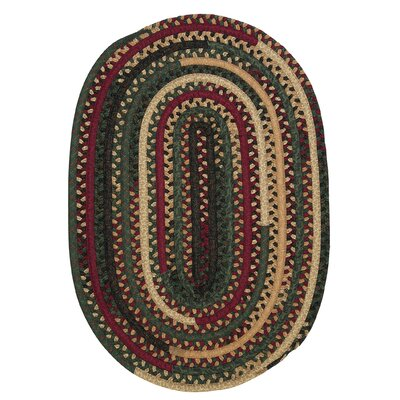 Market Mix Oval Winter Area Rug Rug Size: Round 6